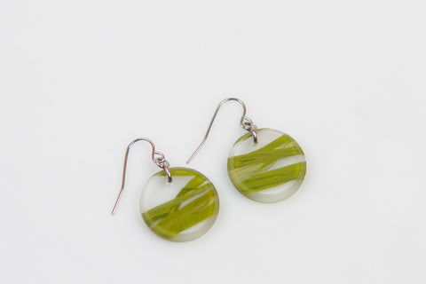 Seaweed Earrings - Circle
