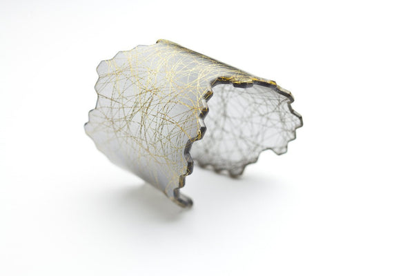 Wisp Gold Honeycomb Cuff - Wide
