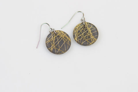 Wisp Gold Earrings - Circle