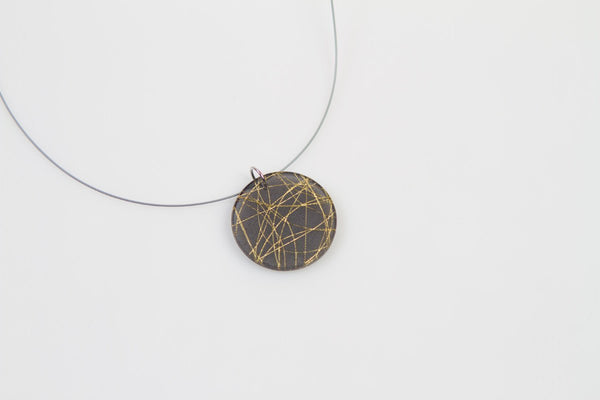 Wisp Gold Necklace - Circle