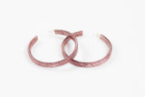Wild Silk Mulberry Hoop Earrings - Large