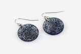 Wild Silk Prussian Earrings - Circle