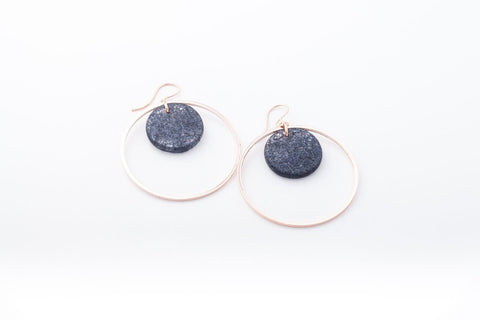 Wild Silk Prussian Earrings - Double Circle