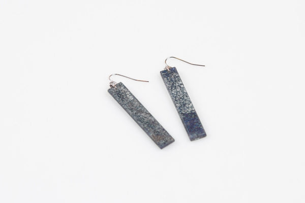 Wild Silk Prussian Earrings - Long