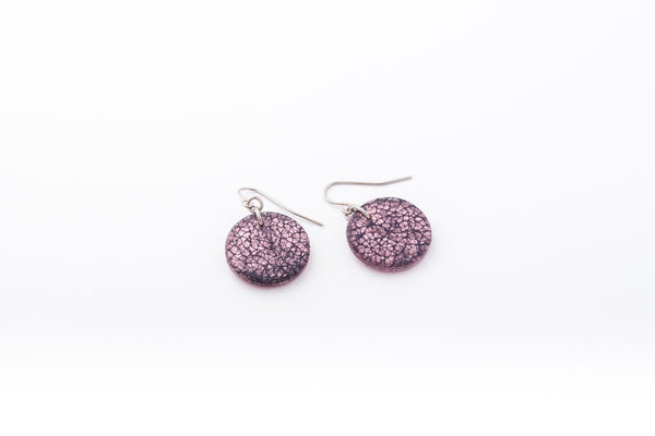 Wild Silk Rose Earrings - Circle