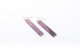 Wild Silk Rose Earrings - Long