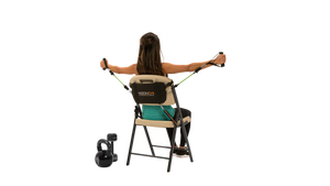 Noonchi V2 Chair Workout home gym!  Easily attaches to ANY chair.