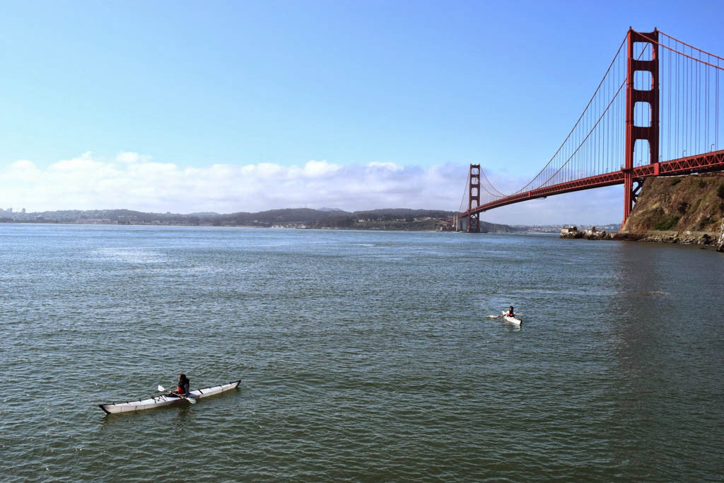 Kayaking Golden Gate Bridge