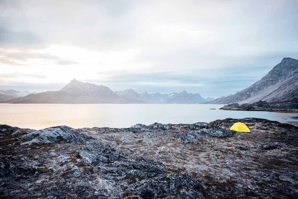 Kayaking camping arctic circle
