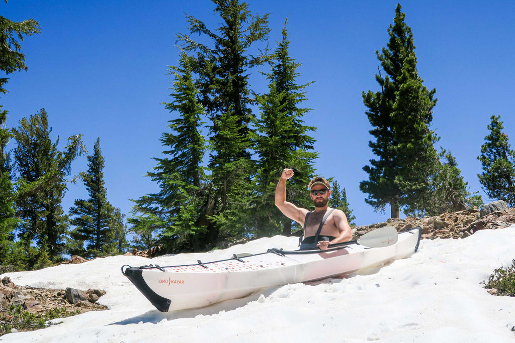 Snow Kayaking with Oru