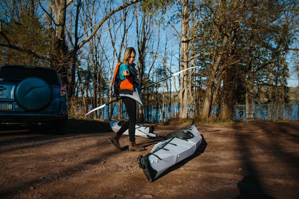 Setting up kayak