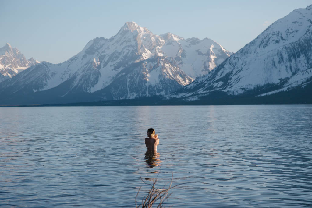 Swimming in the Tetons