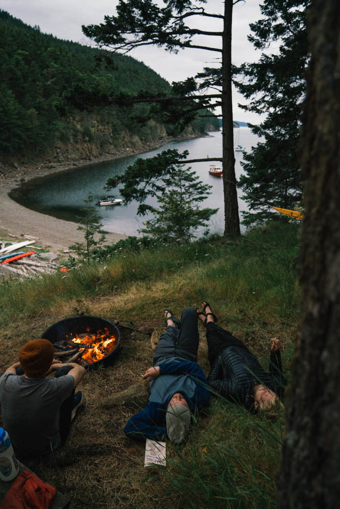 Camping on Cypress Island