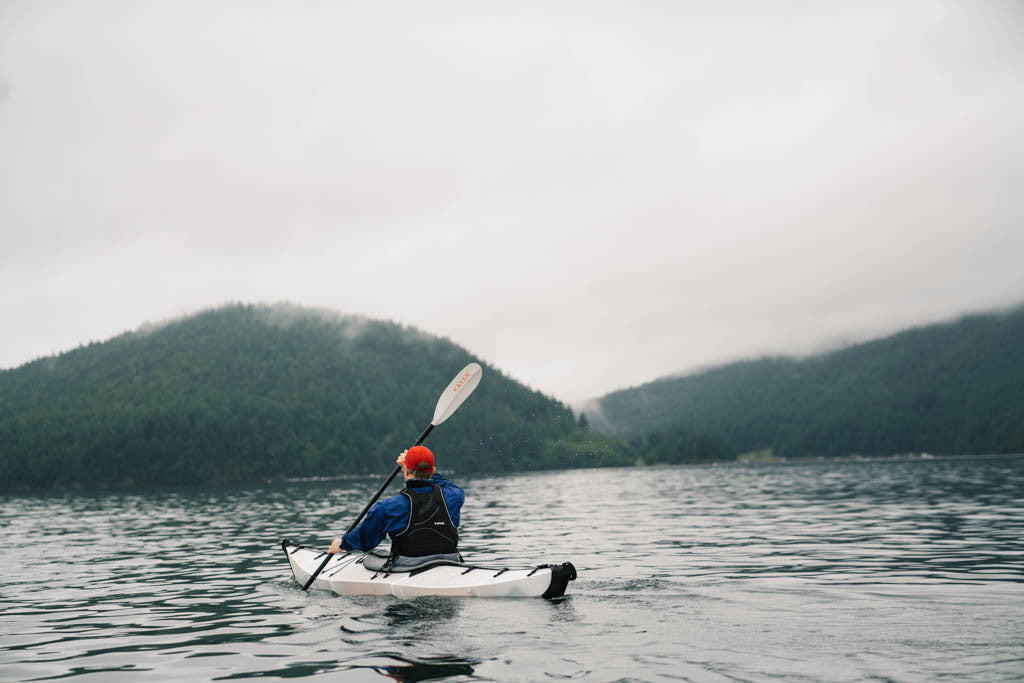 Paddling across Puget Sound