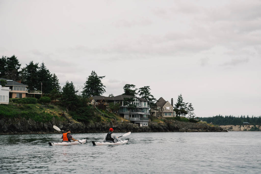Paddling out to Cypress Island
