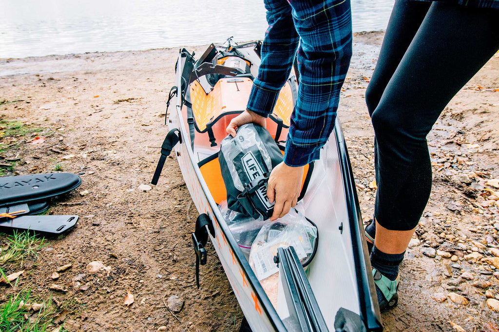 Packing a kayak for day trip