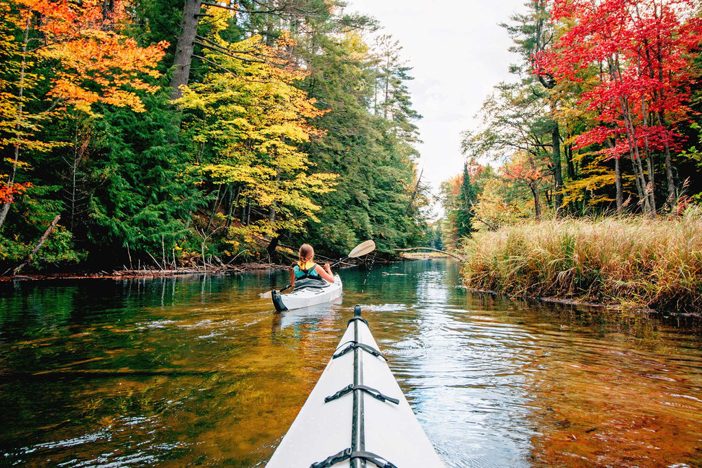 Kayaking with fall colors