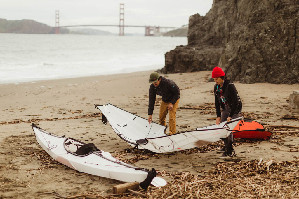 Setting up Oru Kayaks