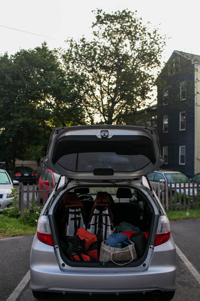 Packing Oru Kayaks into Cars