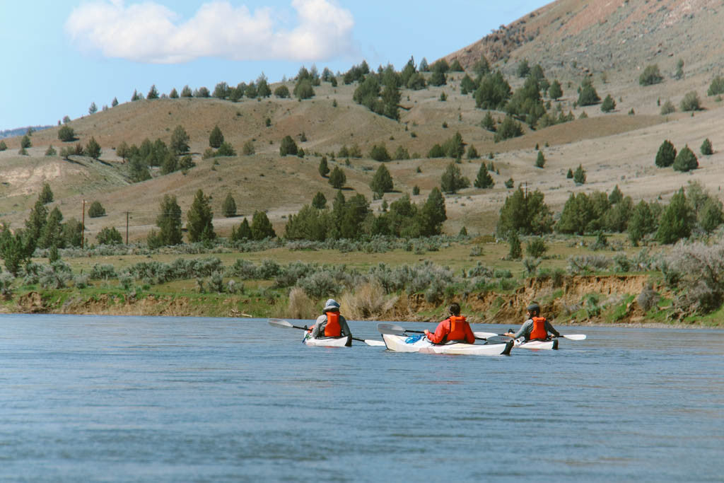 Kayaking on the John Day River