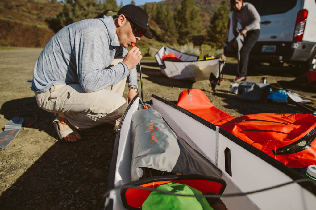 Setting up a kayak