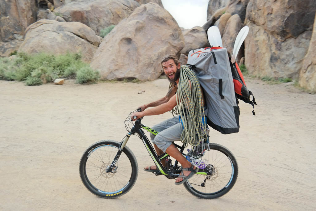 Carrying Oru Kayak on bike