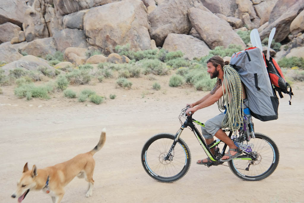 Biking with Oru Kayak in the desert