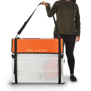 Beach Kayak in Box with Person For Scale