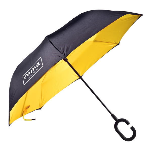 ROMA INVERTED UMBRELLA IN YELLOW
