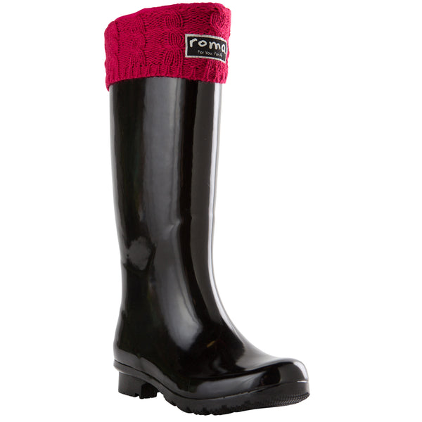 WOMEN'S TALL RASPBERRY CABLE KNIT BOOT LINER
