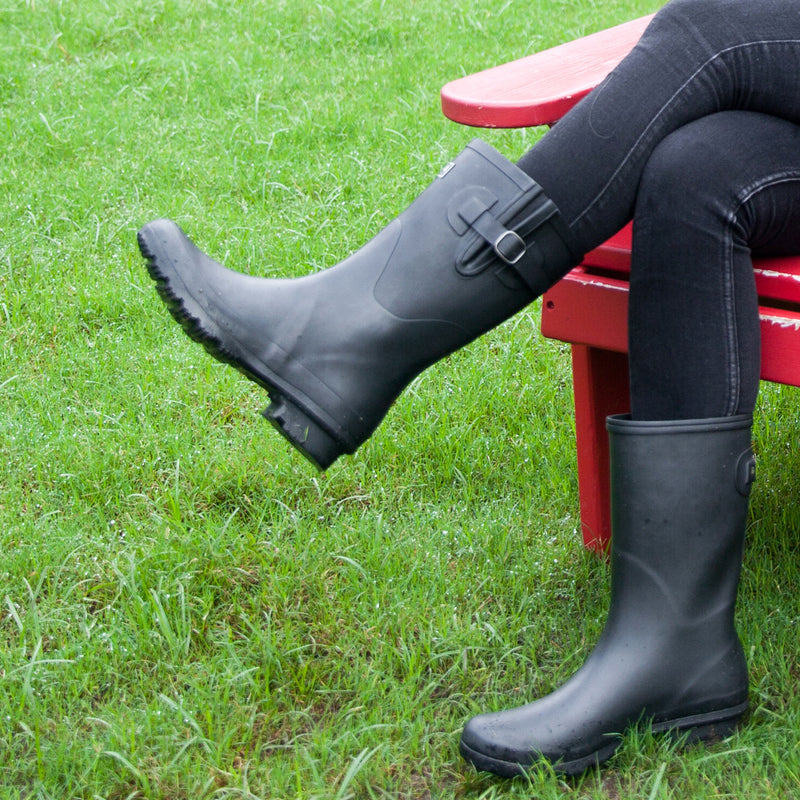 WELLY MATTE BLACK WOMEN'S RAIN BOOTS