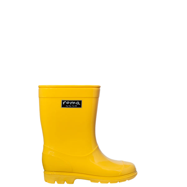 ABEL YELLOW KID'S RAIN BOOTS