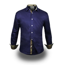 Load image into Gallery viewer, Gray Label Long Sleeve Shirt Blue