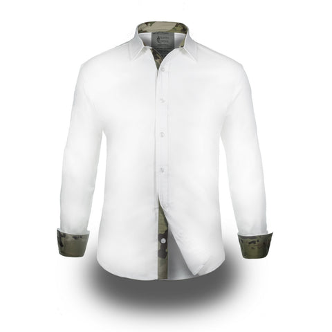 Grey Label Multicam Long Sleeve Shirt White