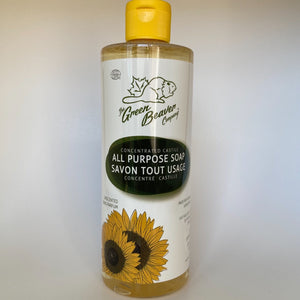 Unscented Castile Soap by The Green Beaver -495 ml