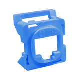 16R00NV001B-BL6Z Blue Clipsal 30 Series Mech Bezel Adaptor for Keystone Jacks from AT&T Cabling Systems