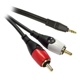 RCA to 3.5mm Stereo Audio Lead Dueltek