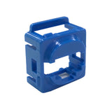 Blue Wall Plate Mech Bezel for Keystone Data Jacks ADP-CM-BEZEL-BL