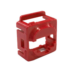 Red Wall Plate Mech Bezel for Keystone Data Jacks ADP-CM-BEZEL-RD