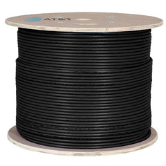 AT&T 500M Black 23AWG Unshielded U/FTP CAT6A Cable Drum 11M6AHA004N-BK2K