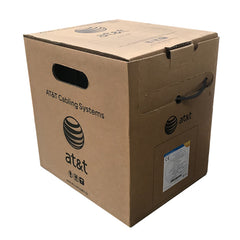 AT&T 305M Black 24AWG CAT6 Cable Reel-in-Box 11U06HA004T-BK3J
