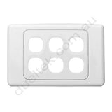 Clipsal Compatible Wall Plate - WP-6