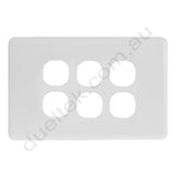 Clipsal Compatible Wall Plate - WPC-6