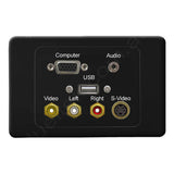 Clipsal 2000 AV Wall Plate VGA 3.5mm USB-A Composite S-Video