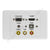 Clipsal 2000 AV Wall Plate VGA HDMI 3.5mm USB Composite