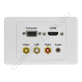 Clipsal 2000 AV Wall Plate VGA HDMI 3.5mm Composite