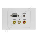 Clipsal 2000 AV Wall Plate VGA Audio Composite RCA