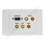 Clipsal 2000 AV Wall Plate VGA Audio Composite