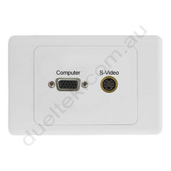 Clipsal 2000 Wall Plate VGA S-Video