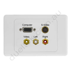 Clipsal 2000 Wall Plate VGA Composite RCA S-Video